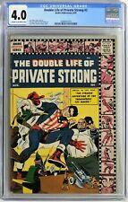 S062 DOUBLE LIFE OF PRIVATE STRONG #2 Archie CGC 4.0 VG 1959 KIRBY & SIMON Cover