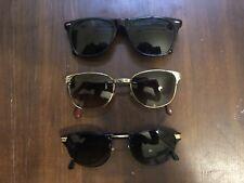 Stock Lotto 4 occhiali da sole Unisex Made In Italy Anni 70 Vintage, Sunglasses.