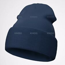 Beanie Plain Knit Hat Winter Warm Cuff Cap Slouchy Skull Ski Warm Men Woman