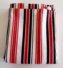 Vintage Raw Silk - Red Black White Stripe - 2.75 m