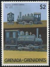 1902 Douglas Gilmore Industrial Tanque de silla de montar 0-4-0 Sello de tren (1989) Granada