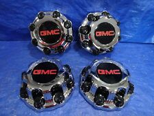 99 - 08 GMC Sierra Yukon Van 2500 3500 alloy wheel Chrome Center Caps 8 Lug set