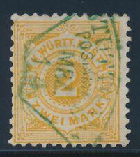 Gestempelte ungeprüfte Briefmarken aus dem altdeutschen Württemberg (bis 1945)