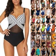 Damen One Piece Monokini Einteiliger Bikini Badeanzug Bademode Schwimmanzug 46