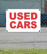 2x3 USED CARS Red & White Banner Sign NEW Discount Size & Price FREE SHIP