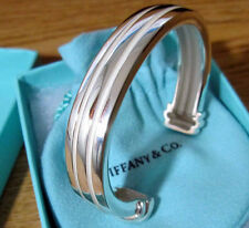 NEW Tiffany & Co. Grooved Cuff 48 Grams Bangle Bracelet Sterling Silver 925