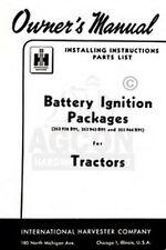 FARMALL Super A AV C Cub W I O OS  4 6 9 Battery Ignition Operators Manual
