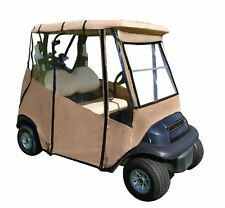 Portable Drivable Golf Cart Cover - Universal 2 Passenger Fit - Tan