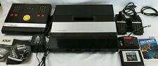 Atari 5200 Console, 2 Controllers, Trak Ball Controller, Space Dungeon - Works