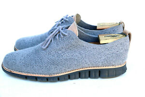 Cole Haan Zero Grand Gray Knit Wingtip Casual Dress Shoe Men's SZ 11M