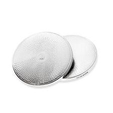 Sterling Silver Set of 2 Drinks Coasters Hallmark Spiral Design Bar Accessories