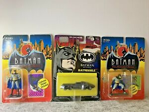 ERTL Batman The Animated Series 1993 & Batman Returns 1992 *LOT OF 3* Diecast