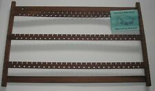 WOOD EARRING RACK 173 WALNUT WALL MOUNT