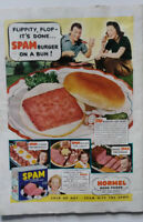 Vintage SPAM Magazine Print Ad 1940 Full Page