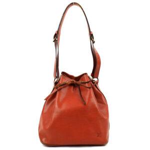 LOUIS VUITTON Petit Noe Epi Shoulder Bag Leather Zipangu Gold M44108 M44108