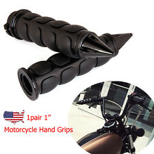 "Black 1"" Motorcycle Hand Grips Handlebars For Harley-Davidson Dyna Glide Part US"