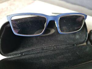 Oakley Brillengestell Blau Silber Schwarz mit Etui