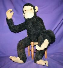 Steiff Jocko Chimp Mohair Plush 60cm 24in Jointed Monkey no ID Vintage