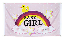 Party Flagge Baby Girl 90x150cm NEU - Partyartikel Dekoration Karneval Fasching