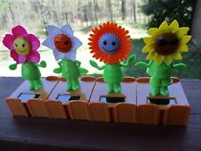 "Connect 4 New Solar Dancing Flower Face Dolls 4"" Tall Each"