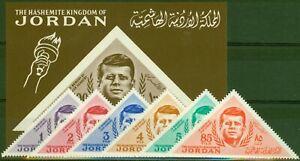 Jordan 1964 Kennedy Set of 7 SG588-MS594 Fine MNH