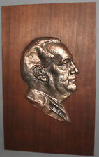 1960 J. F. ROGGE GERMAN BRONZE ART WORK PLAQUE SIGNED