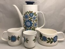 More details for vintage retro j g studio j & g meakin coffee pot jugs and cup made in england