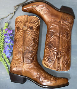 Lucchese Charlie 1 Horse Men's Leather Desert Bomber Western Cowboy Boots 10 D