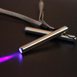 Stainless Steel Mini Pocket Lamp Led 395 UV Flashlight Torch Ultra Violet Light