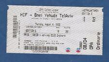 Orig.Ticket   Europa League  2011/12   HELSINGBORGS IF - BNE JEHUDA TEL AVIV  !!
