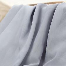 "Yard Soft Chiffon Georgette Voile Fabric Tulle Wedding Lining Material 59""Sheer"