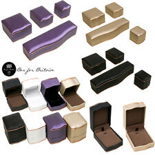High Quality Luxury Leatherette  Boxes with Rose Gold Trim for Diamond Jewellery