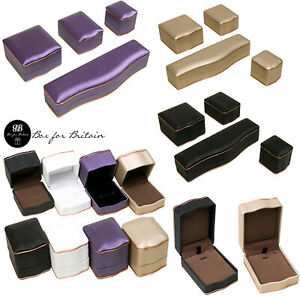 Luxury Leatherette  Boxes with Rose Gold Trim for Diamond Jewellery, gift box
