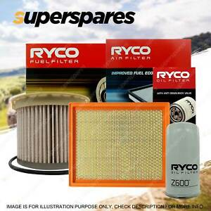 Ryco 4WD Air Oil Fuel Filter Service Kit for Isuzu D-MAX 4JJ1 - up to 05/12