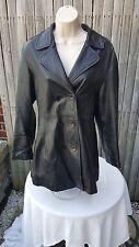 Ladies Full Leather Jacket Brandon Thomas Classy Rebel Look Blemish Size Small