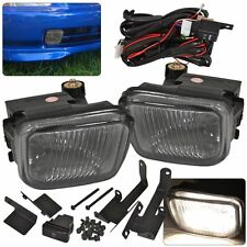 96 97 98 HONDA CIVIC 2DR 4DR 3DR EK JDM SMOKED LENS DRIVING FRONT FOG LIGHT LAMP