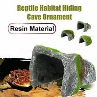 Reptile Habitat Fish Tank Hiding Cave Resin Turtle Basking Decoration Ornament