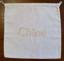 "New Chloe 13.75"" X 13.25"" Cotton Drawstring Dust Storage Bag Made in Italy"
