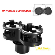 Double Cup Holder Car Center Front Console Install Strong Bottle Hold Bracket
