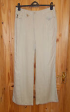 ARMANI JEANS beige PURE FLAX LINEN summer holiday trousers pants Size 29