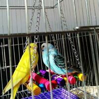 Pet Bird Parrot Parakeet Budgie Cockatiel Cage Hammock Swing Toys Hanging 2019ho