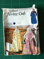 "Vintage Vogue 2626 Heritage Dolls Sewing Pattern 21"" Inaugural Dolls + Underwear"