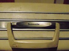 "Vintage Samsonite Silhouette Luggage Suitcase Off-White Eggshell 20""W 16""H"
