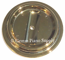 "Piano Brass Finish Lucite Caster Cup, 4-1/2"" x 2-3/4"""