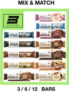 PhD Smart Bar, PhD Smart Plant Bar - ALL FLAVOURS! QUICK DELIVERY- 3,6,12 - Bars