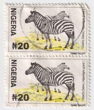 2001 Nigeria - Zebra, Wildlife - Pair 20N Stamps