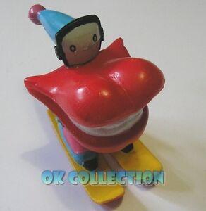 BURGHY WILLY DENTY sciatore sci - personaggio anni '90 in pvc di circa 7 cm