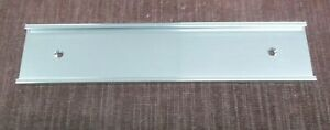 """Name Plate Holders Wall Bracket lot of 7 JRS36-8S silver  2"""" x 8"""" x 1/16"""""""