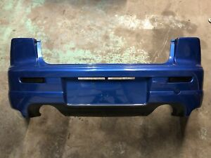09-15 Mitsubishi Lancer Ralliart Rear Bumper Cover Dual Exhaust Octane Blue 10