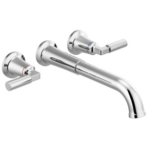 Delta 5748-WL Bowery Wall Mounted 2 Handle Tub Filler Chrome
